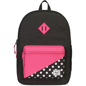Herschel Heritage XL Backpack Youth Black/Polka Dot/Fandango Pink